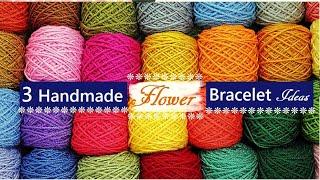 3 Handmade Flower Bracelet Ideas   How To Make Beaded Bracelets At Home   DIY Jewelry  Creation&you
