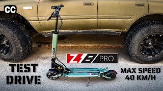 Z8 PRO Electric Scooter FPV Test Drive with the unlimited Speed - 40km/h