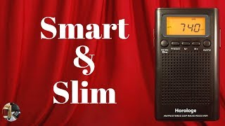 Horologe H-198 AM FM Stereo Portable Pocket Radio Unboxing & Review