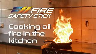Fire Safety Stick works on cooking oil fire