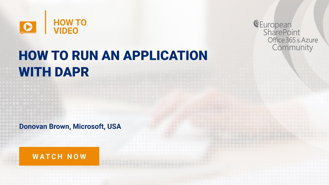 How To Run an Application with DAPR