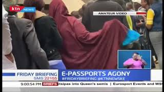 Kenyans forced to wake up early in the morning to line up for E-Passport application