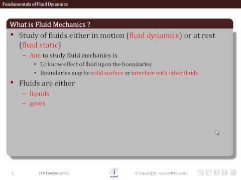 LearnCAx:CFD Online Training-Fundamentals of Fluid Dynamics:(Part-1)