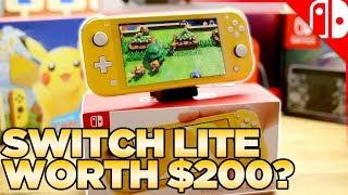 Nintendo Switch Lite Comparison, Unboxing, & Review