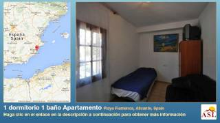 preview picture of video '1 dormitorio 1 baño Apartamento se Vende en Playa Flamenca, Alicante, Spain'