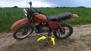 Stopka boczna do Ulepa - tyłem na motorynce