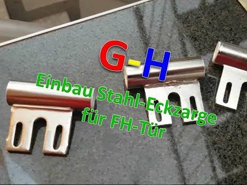 G-H Einbau Stahl Eckzarge für Brandschutztür
