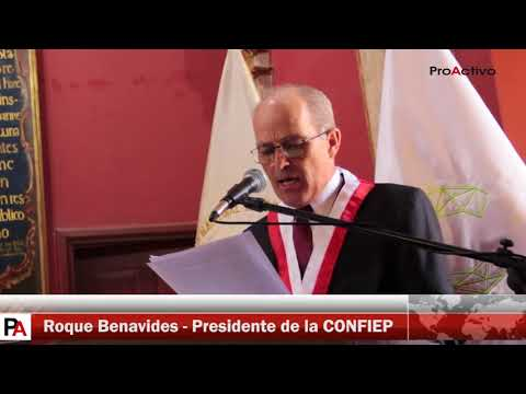 "San Marcos otorga ""Honoris Causa"" a Roque Benavides, presidente de la CONFIEP"