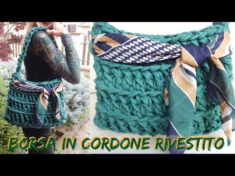 BORSA IN CORDONE, RIVESTITO CON TESSUTO DI COTONE -  NUNZIA VALENTI