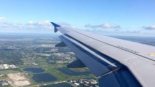 United A319 Landing Sarasota-Bradenton (SRQ)
