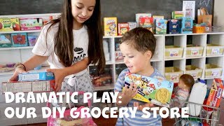 Our DIY Grocery Store: Dramatic Play