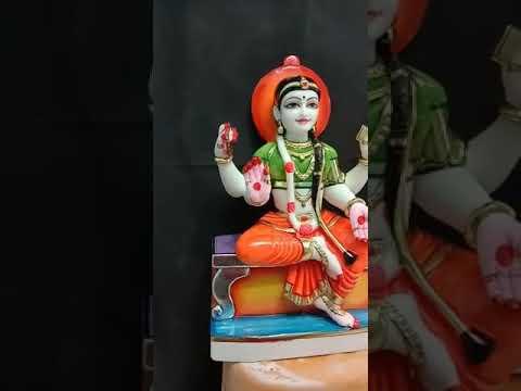 Bala Tripur Sundari Marble Goddess Statue
