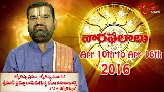 Vaara Phalalu | Apr 10th to Apr 16th 2016 | Weekly Predictions 2016 Apr 10th to Apr 16th