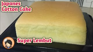 Cara mudah buat JAPANES COTTON CAKE yg super lembut