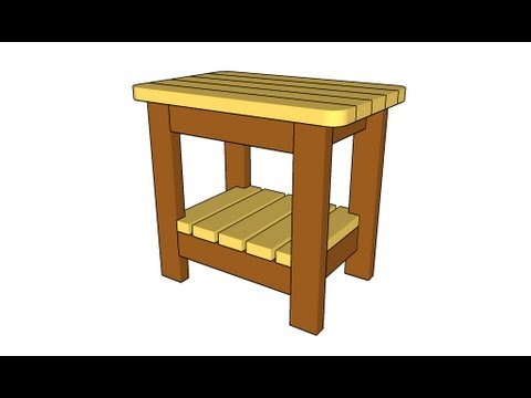 DIY Simple Outdoor Side Table Plans lees wood projects Plans ...