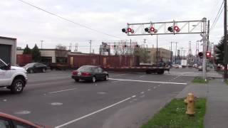 BNSF trash train going backwards in Seattle,WA. Pt. 1
