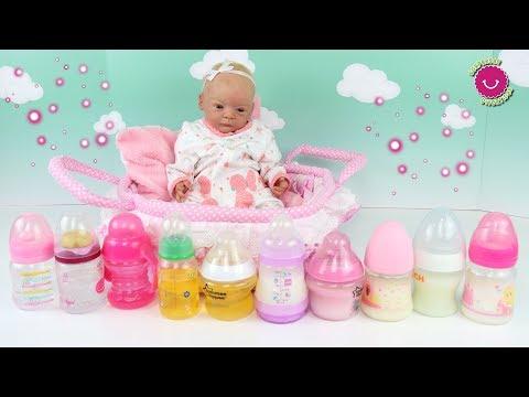 Los BIBERONES de LINDEA + Cómo preparar leche de fórmula para muñecas bebé