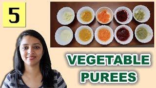 बच्चों के लिए वेजिटेबल प्यूरी | 5 Vegetable Purees For 6-10 Month Old Babies