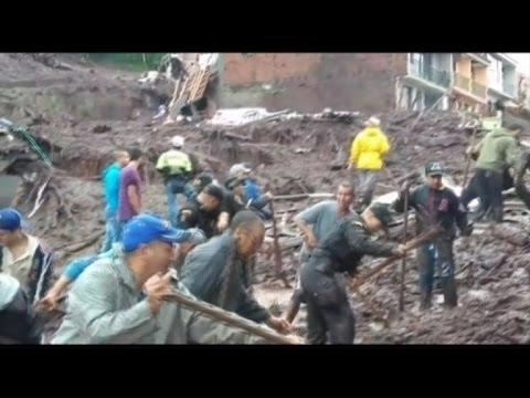 Video: Aumenta a 16 la cifra de muertos por aludes en Colombia