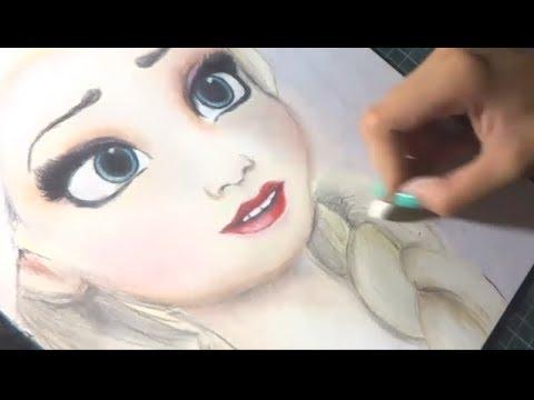 Speed Drawing: Elsa (Frozen) | Diana Diaz (видео)