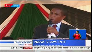 NASA stays put on swearing plans even when Jubilee leaders warn of dire consequences