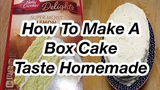 How To Make A  Box Cake Taste Homemade // Boxed Cake Mix Hack