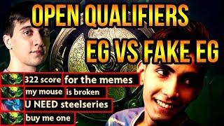 Evil Geniuses vs Fake EG Team - Dota 2 International Open Qualifiers (2018)
