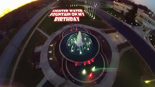 Lighted Water Fountain on my Birthday | Forck-In Quad FPV Freestyle Insta360 GO