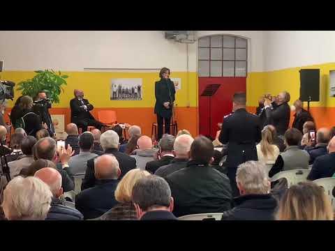 Il ministro Marta Cartabia in visita al carcere di Busto Arsizio