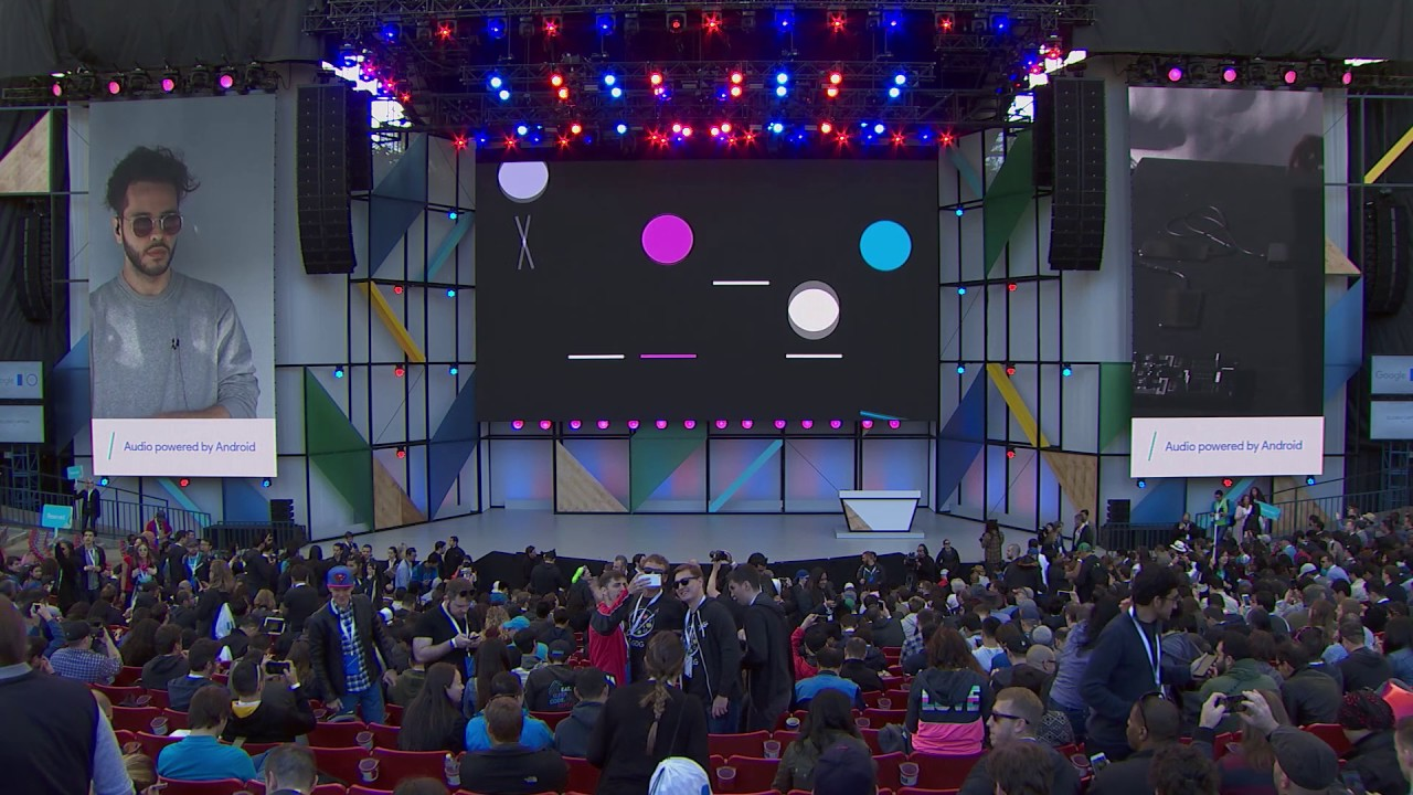Part of Parisi's performance at Google I/O 2017