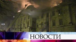 Крупный пожар вобластной детской больнице тушили этой ночью вТвери.