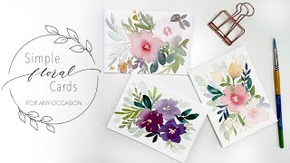 Simple Floral Cards For Any Occasion