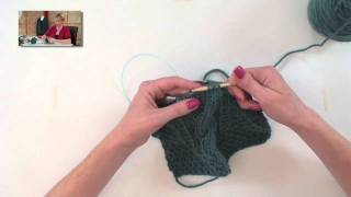 Cabled Baby Afghan - Part 3
