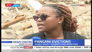 Hundreds affected by the pangani evictions spend night in the cold