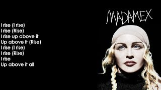 Madonna   I Rise (Lyrics On Screen)