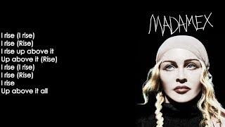 Madonna   I Rise (Lyrics On Screen)