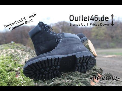 Timberland 6-Inch Premium Boots Schwarz DEUTSCH l Review l On Feet l Overview l Haul l Outlet46.de