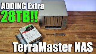 Installieren zusätzlicher Laufwerke auf einem Terra Master NAS-Server (Plug & Play)
