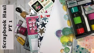 Scrapbook.com  Haul And Mixed Media Swatch PT 1 /scrapbooking Craft Supplies