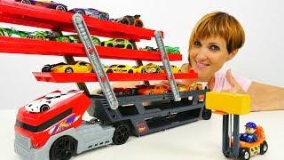 Хот вилс машинки и АВТОВОЗ - распаковка игрушек с Машей