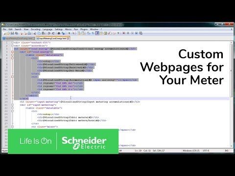 Can you configure custom web pages for the PM8000 meter?