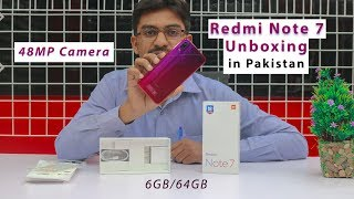 Redmi Note 7 Unboxing in Pakistan | 48MP Camera | Snapdragon 660