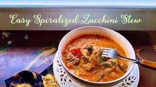 Zoodles anyone?... Spiralized Zucchini Stew