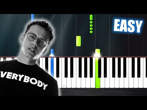 Logic - 1-800-273-8255 ft. Alessia Cara - EASY Piano Tutorial by PlutaX