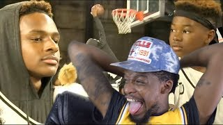 HOODIE BRONNY & KUNG-FU BRYCE!! Bronny James & Mikey Williams DUNKING & JELLY at #JordanFOF
