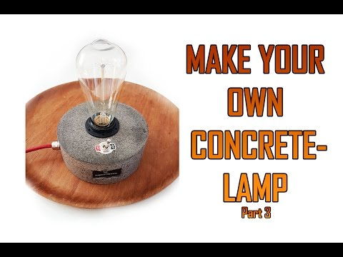 Concrete lamp DIY banggood
