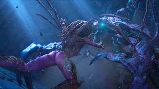 Kerrigan and Artanis Fight with Hybrid (Starcraft 2   Protoss   Ulnar Temple   Unlikely Allies)