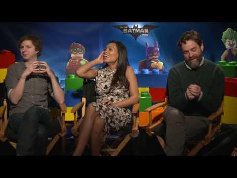 LEGO Batman Movie Interview - Michael Cera, Rosario Dawson & Zach Galifianakis | MTW