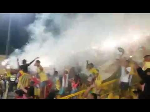 """Recibimiento Rebelion Auriverde Norte (Real Cartagena) 2016"" Barra: Rebelión Auriverde Norte • Club: Real Cartagena"