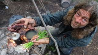Catch and Cook Wild Gopher Stew - Day 3-5 of 30 Day Survival Challenge Canadian Rockies